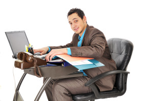 sitting at office desk alexander method